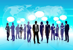 Business People Team Speech Communication Bubble Stock Photos