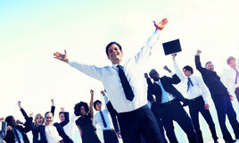 Business People Team Success Celebration Concept Stock Photography