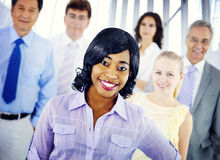 Business People Team Success Cheerful Concept.  Royalty Free Stock Images