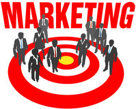 Business people team target marketing Stock Photos
