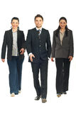 Business people team walking Stock Photo