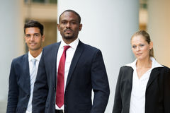 Business people team walking outdoor Royalty Free Stock Photo