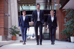 Business people team walking Stock Image