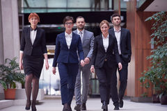 Business people team walking Stock Image