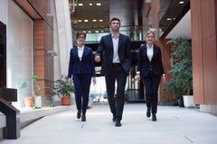 Business people team walking Royalty Free Stock Image