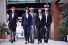 Business people team walking Stock Photos