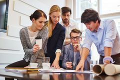 Business people team in workshop Stock Photos