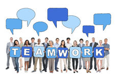 Business People and Teamwork Concepts Royalty Free Stock Photos