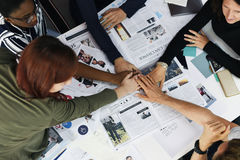 Business People Teamwork Cooperation Hands Together. Startup Business People Teamwork Cooperation Hands Together Stock Photos