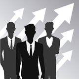 Business people teamwork growth arrow Stock Images