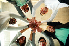Business people teamwork in an office Stock Images