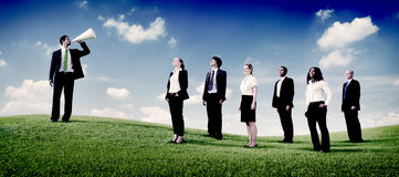 Business People Teamwork Successful Freedom Aspiration Concept Stock Photos