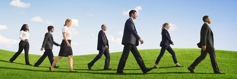 Business People Teamwork Successful Freedom Aspiration Concept Royalty Free Stock Photography