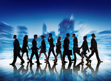 Business People Teamwork Successful Freedom Aspiration Concept Stock Images