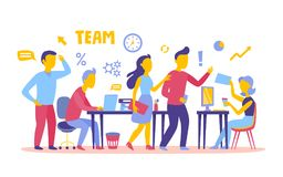 Business People teamwork workers in office working together Royalty Free Stock Images