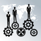 Business people teamwork workforce staff gear Royalty Free Stock Photography
