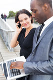 Business people and technologies Stock Photo