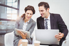 Business people with technology Royalty Free Stock Images