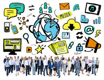 Business People Technology World Media Community Concept Stock Photo