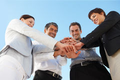 Business people with their hands Royalty Free Stock Image