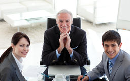 Business people and their manager in a meeting Royalty Free Stock Photo