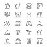 Business people thin icons Royalty Free Stock Image