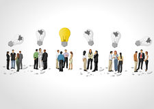 Business people thinking. Light bulb idea. Stock Photography