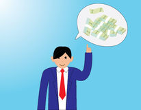 Business. People with thinking money Royalty Free Stock Images