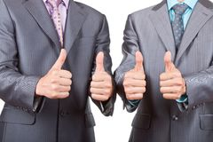 Business people thumb up Royalty Free Stock Photography