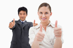 Business people with the thumbs up Royalty Free Stock Image
