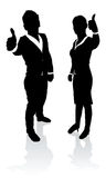 Business people thumbs up Stock Image