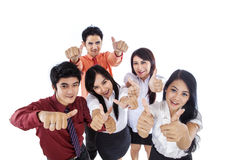 Business people thumbs up Royalty Free Stock Image