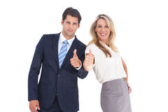 Business people with thumbs up Stock Images