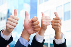 Business People with Thumbs Up. Some Business People with Thumbs Up royalty free stock images