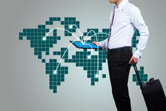 Business people to travel. Royalty Free Stock Images