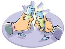 Business people toast Stock Photo