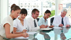 Business people together in a meeting room Stock Photography