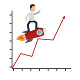 Business people with training icon. Illustration design Stock Image