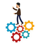 Business people with training icon Stock Image