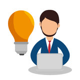 Business people with training icon Royalty Free Stock Photos