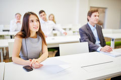 Business people during training stock photo