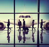 Business People Travel Airport Concept Stock Images