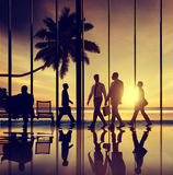 Business People Travel Beach Trip Airport Terminal Concept.  Stock Image