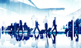 Business People Travel Corporate Aiport Passenger Terminal Conce. Pt Royalty Free Stock Images