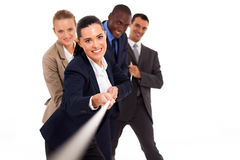 Business people tug-of-war Royalty Free Stock Images