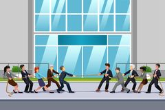Business People in Tug of War Illustration. A vector illustration of Business People in Tug of War Royalty Free Stock Photography