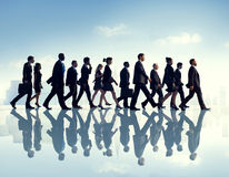 Business People Urban Scene Commuter Busy Working Walking.  royalty free stock images