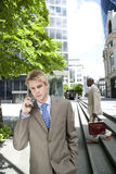 Business people - Using Cell Stock Image