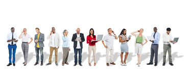Business People Using Digital Devices Royalty Free Stock Images