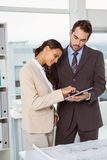Business people using digital tablet in office Royalty Free Stock Photo